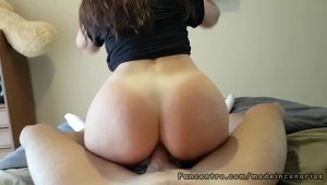 Sexo anal amador com prima de bunda grande