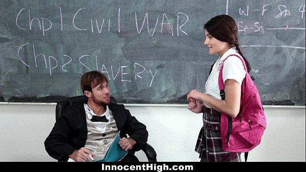 Inocente colegial e seu professor safadinho